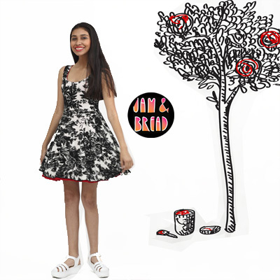 Reversible Twirly Teen Dress by Jam & Bread