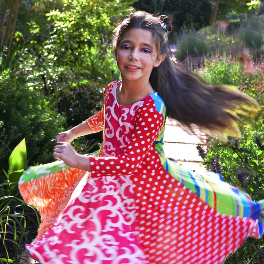Rainbow Dress for Girls