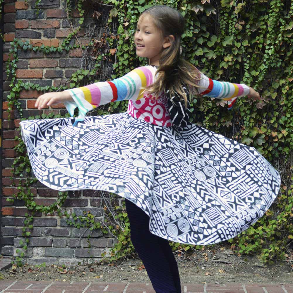 20a8a4f3121489 Girls Harajuku Dress | Fun Trendy Fashion | Twirly Colorful Stripes