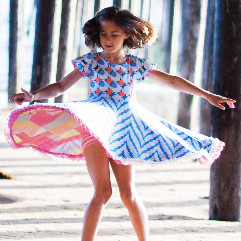 9430aa7b0 Twirl Dress For Girls | Pretty Full Circle Skirts | Reversible Fun